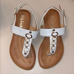 Little Girls White Sandals